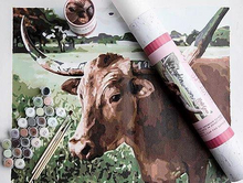 Load image into Gallery viewer, Lucy Longhorn- Paint by Number Kit