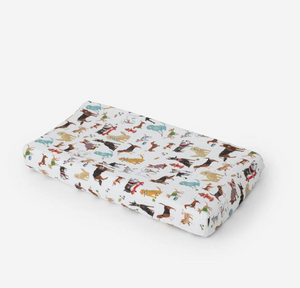 Woof Cotton Muslin Changing Pad Cover
