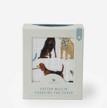Load image into Gallery viewer, Woof Cotton Muslin Changing Pad Cover