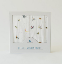 Load image into Gallery viewer, Gone Fishing Deluxe Muslin Quilt
