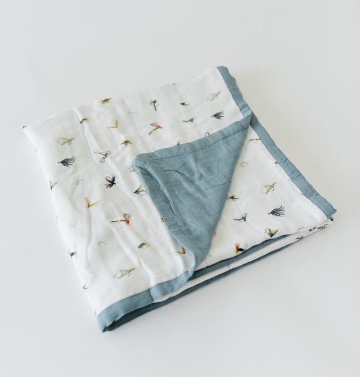 Gone Fishing Deluxe Muslin Quilt