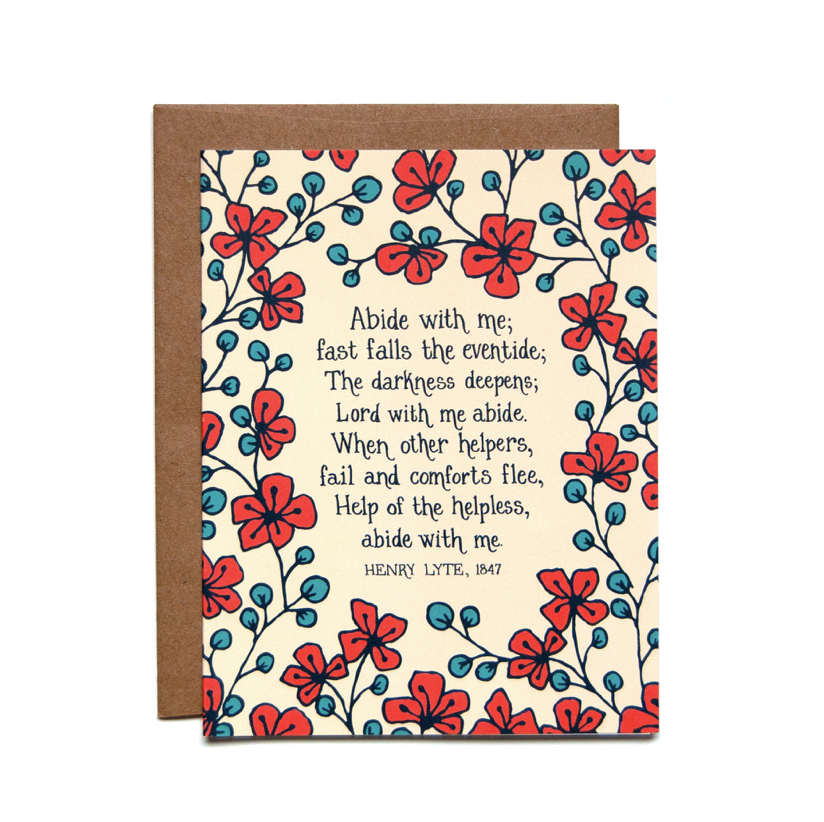 Abide with Me Greeting Card