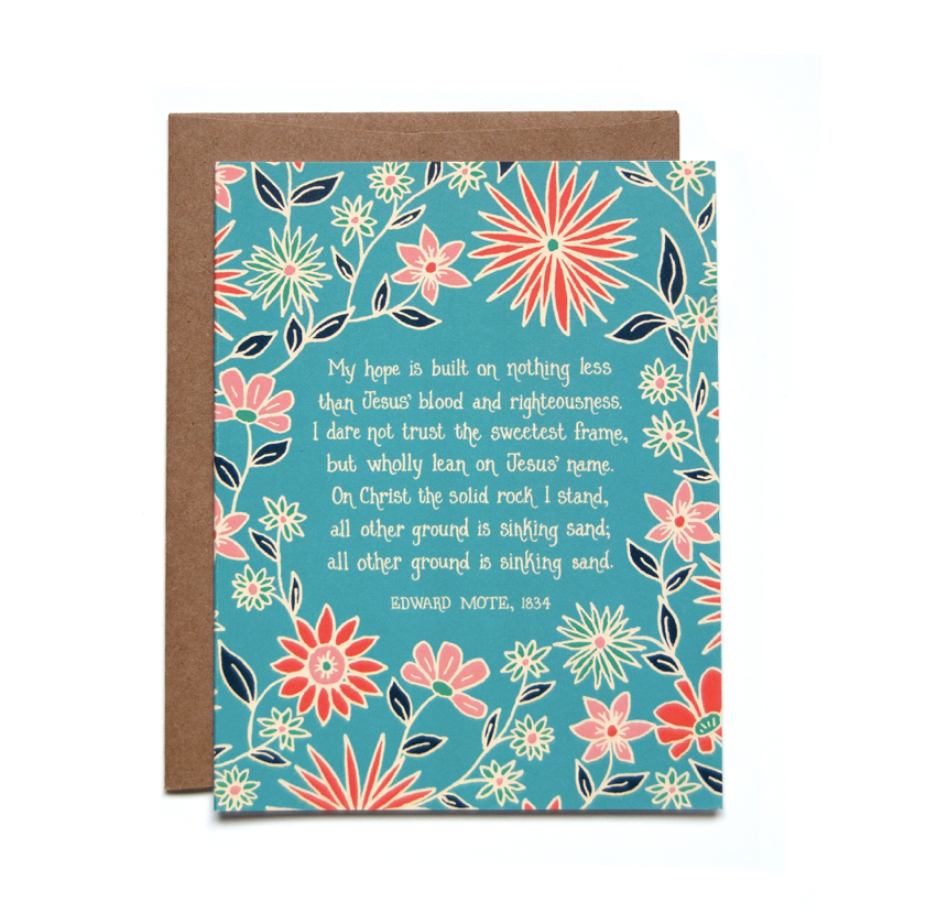 My Hope is Built Greeting Card