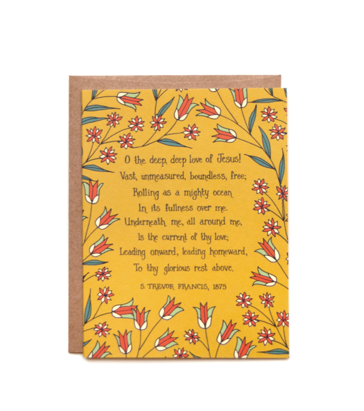 O The Deep Deep Love of Jesus Greeting Card