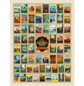 Wilderness & Wonder- 62 National Park Art Print