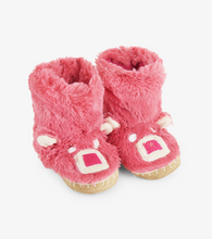Load image into Gallery viewer, SALE- Fuzzy Bear Slouch Slippers