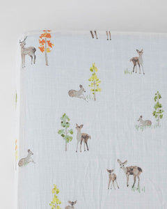 Oh Dear Cotton Muslin Crib Sheet
