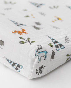 Forest Friends Cotton Muslin Changing Pad Cover