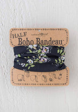 Load image into Gallery viewer, Half Boho Bandeau in Black Sage Blooms