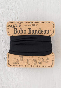 Half Boho Bandeau in Solid Black