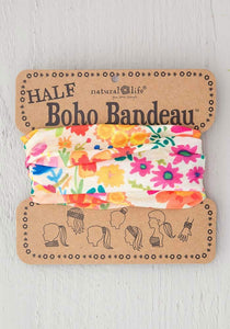 Half Boho Bandeau Cream Wildflowers