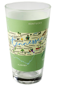 Tennessee Map Pint Glass