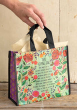 Load image into Gallery viewer, Medium Turquoise Rust Floral Giving Bag
