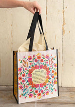 Load image into Gallery viewer, Extra Large Cream Floral Giving Bag