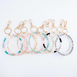 All the Facets &  Beads Key Ring
