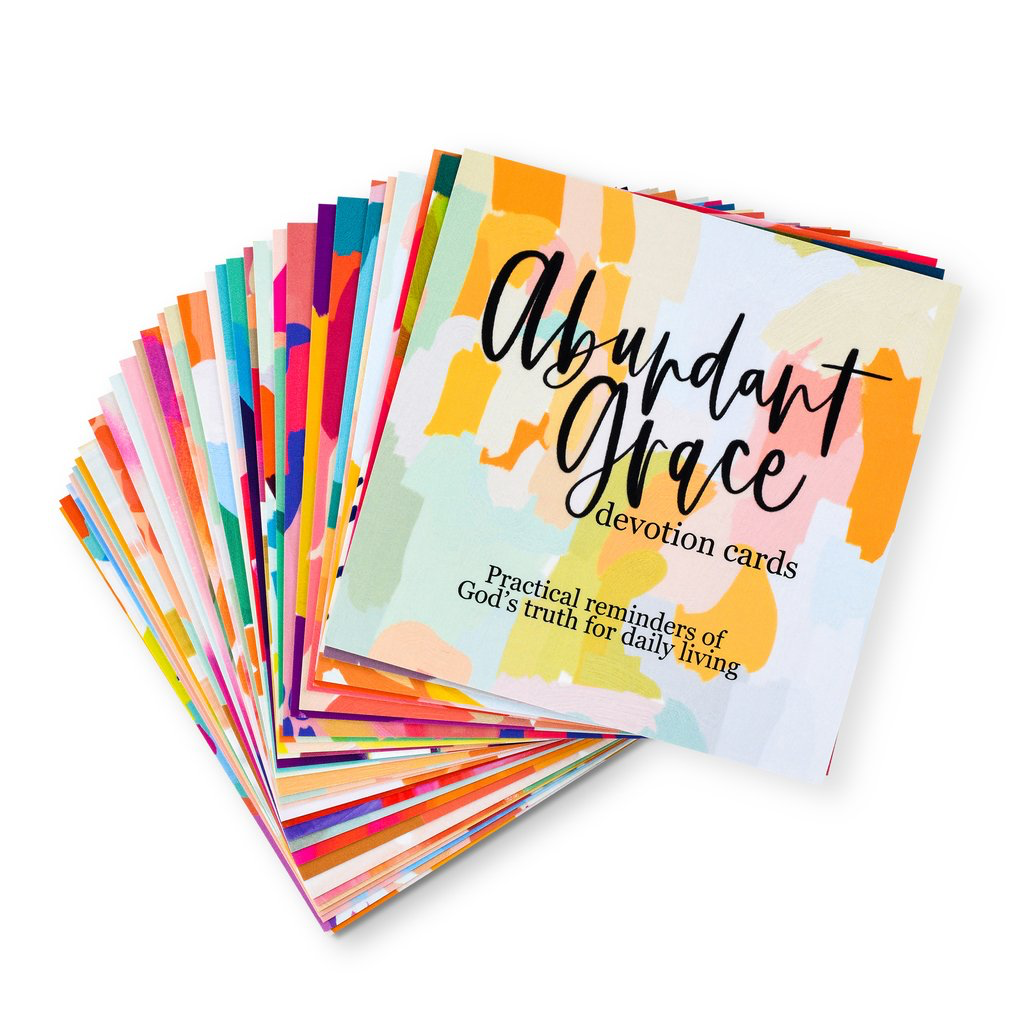 Abundant Grace Devotion Cards with Stand