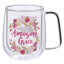 Load image into Gallery viewer, Amazing Grace Double Walled Glass Coffee Mug