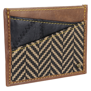 Henry Classic Credit Card Wallet in Herringbone