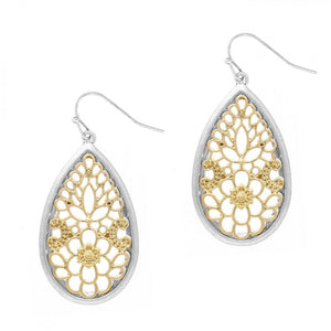 Finley Teardrop Filagree Earrings