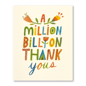 A Million Billion Thank Yous- Thank You Card