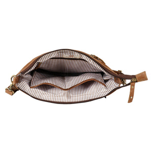 Mercer Upcycled Leather Crossbody in Herringbone