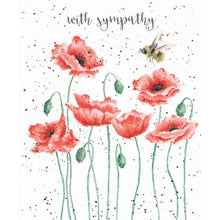 Load image into Gallery viewer, Poppies & Bee Sympathy Card