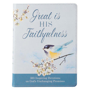 Great is His Faithfulness Leather Daily Devotional Book