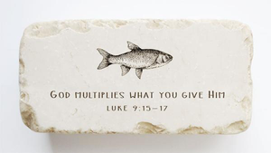 Luke 9:15-17 Stone- God multiplies what you give Him.