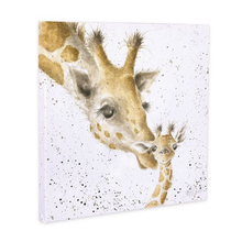 Load image into Gallery viewer, First Kiss Giraffes Canvas