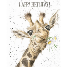 Load image into Gallery viewer, Giraffe & Flowers Birthday Card
