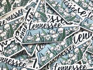 Tennessee Iris State Flower Sticker