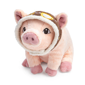 Maybe-Flying Plush Pig-