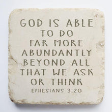 Load image into Gallery viewer, Ephesians 3:20 Stone- God is Able