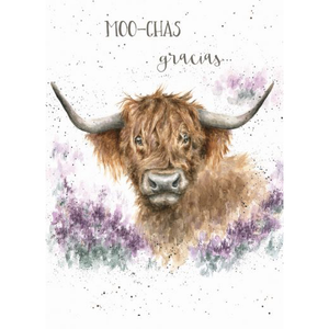 Highland Cow Thank You Card