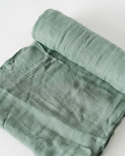 Load image into Gallery viewer, Deluxe Muslin Swaddle Blanket - Sage
