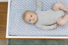 Load image into Gallery viewer, Blue Grass Cotton Muslin Crib Sheet