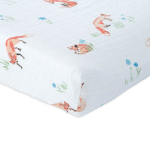 Fox Cotton Muslin Changing Pad Cover