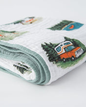 Load image into Gallery viewer, Happy Camper Cotton Muslin Quilt