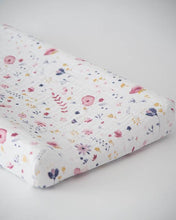 Load image into Gallery viewer, Fairy Garden Cotton Muslin Changing Pad Cover