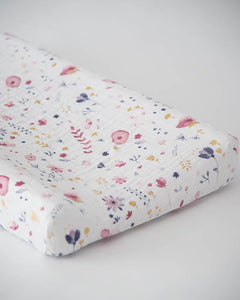 Fairy Garden Cotton Muslin Changing Pad Cover