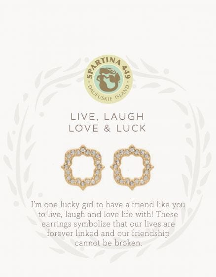 Spartina Live, Laugh, Luck and Luck Earrings