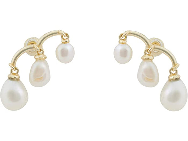 Kendra Scott Scarlet Ear Climber Gold With White Pearl