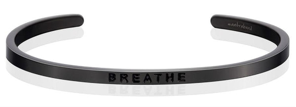 "MantraBand Moon Grey ""Breathe"" Bracelet"
