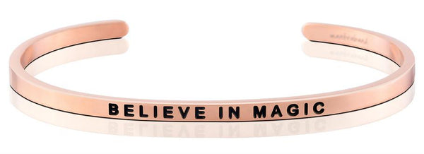 "Mantraband Rose Gold ""believe in magic"" Bracelet"