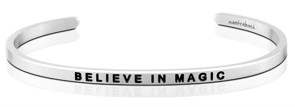 "MantraBand Silver ""Believe In Magic"" Bracelet"