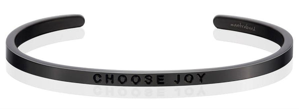 MantraBand Moon Grey Choose Joy Bracelet