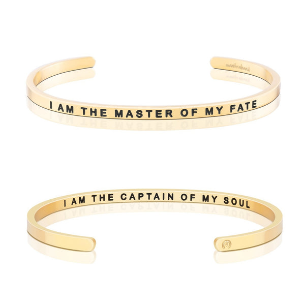 MantraBand Gold I am The Master of my fate