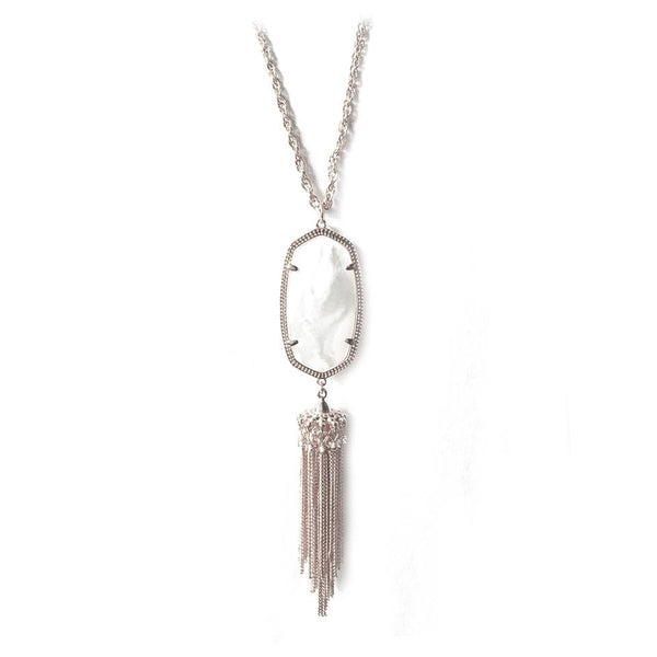 Kendra Scott Rayne Necklace Silver MOP