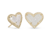 Kendra Scott Ari Heart Stud Earring in Gold