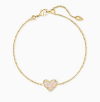 Kendra Scott Ari Heart Delicate Bracelet in Gold
